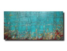Large oil painting - 24 X 48 - Art by JMJartstudio- Taking sides -Wall art-wall decor -Oil painting- XXl Painting Unique Paintings, Your Paintings, Original Artwork, Original Paintings, Abstract Paintings, Abstract Canvas, Industrial Wall Art, Blue Living Room Decor, Blue Painting