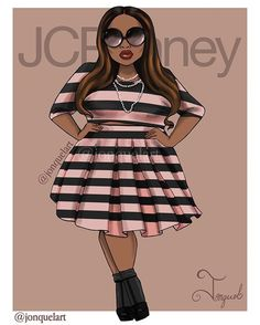 It's NYFW and I'm excited for all the amazing events happening, but my favorite so far was the @ashley_nell_tipton show for @jcpenney #boutique+. Here is the first in a mini series inspired by her collection . ........................................................... #nyfw #curves #plussize #ashleynelltipton #jonquelart #goldenconfidence #fashionillustration #nycart #nycartist #celebratemysize #effyourbeautystandards #fashion #jcpenny #bodypositive #designerashley #hereiam