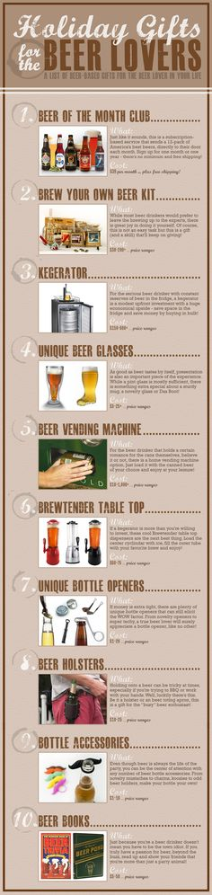 Not only over the holidays, but also great ideas for the beer lover any time of the year! #beer