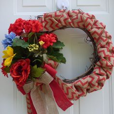 Grapevine Spring  Wreath/Spring Wreath for Front Door/Door Wreath/  Grapevine Wreath/Summer Wreath Burlap/Summer Wreath Front Door/Wreaths by OneofaKindWreath on Etsy