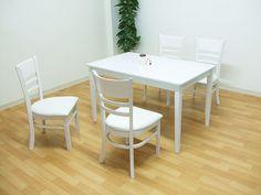 Dining Table 120ダイニングテーブルセット5点solnホワイトウォッシュ色4人 北欧 インテリア 雑貨 家具 Modern ¥27300yen 〆05月26日