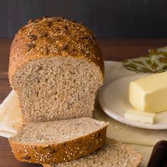 A hearty whole wheat loaf flecked with a mixture of healthy seeds for bonus flavor and added texture. Perfect for fall meals!