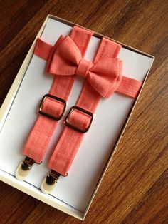 Hey, I found this really awesome Etsy listing at http://www.etsy.com/listing/165299831/coral-suspenders-and-bow-tie-set-for-men