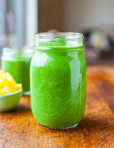 Tropical Green Smoothie (vegan, GF) averiecooks.com