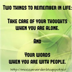 Love Your Life: Two things to remember