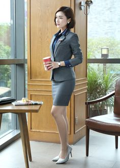 Beautiful Young Lady, Beautiful Asian Women, Work Dresses For Women, Clothes For Women, Asian Fashion, Girl Fashion, Office Outfits Women, Girls In Mini Skirts, Business Dresses