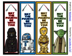 Star Wars Inspired Bookmarks  - MAY THE FOURTH BE WITH YOU