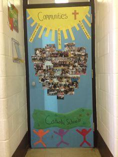 catholic schools week door decorating ideas - Google Search