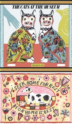 Screen prints by Alice Pattullo