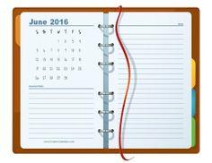 Printable planner June 2016