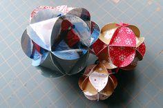 #DIY Paper ball ornament by Maker Mama