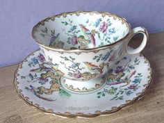 Antique 1890's Atlas China Grimwade teacup and by ShoponSherman