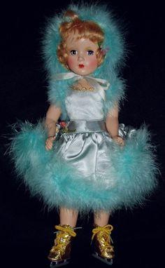 "Exquisite MIB 1949 14"" Madame Alexander BABS SKATING Doll"