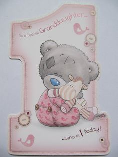 ME TO YOU TATTY TED SPECIAL GRANDDAUGHTER WHO IS 1 1ST BIRTHDAY GREETING CARD: Amazon.co.uk: Kitchen & Home