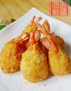 芝心虾球食谱