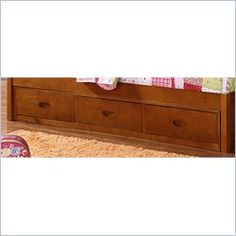 Boraam Twin Over Full 3 Drawer Storage Trundle in Fruitwood Review