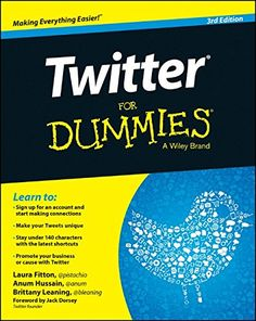 Twitter For Dummies by Laura Fitton. A fully updated new edition of the fun and easy guide to getting up and running on Twitter.  It explains all the nuts and bolts, how to make good connections, and why and how Twitter can benefit you and your business. http://search.lib.uiowa.edu/01IOWA:default_scope:01IOWA_ALMA21381087380002771