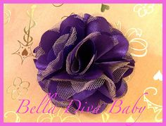 Satin and Tulle Mesh Flower  3 DIY for elegant by BellaDivaBaby