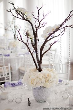 Chic and sparkly, white and lavendar wedding from SMP  Flowers by villageartsandflowers.com/, Photography by snapri.com/