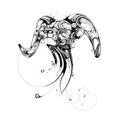 I find these swirling animal illustrations elegant and so beautiful.