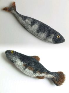 Needle Felted Animals, Felt Animals, Fabric Fish, Felt Fish, Needle Felting Tutorials, Fish Crafts, Wool Art, Art Textile, Felt Decorations