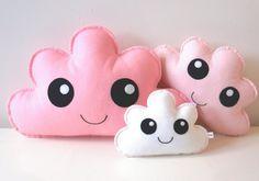 cloud cushion, kawaii, cloud pillow, nursery decor, cute gifts