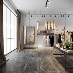 Boutique Design, Industrial Chic, Showroom, Store, Furniture, Shopping, Home Decor, Decoration Home, Room Decor