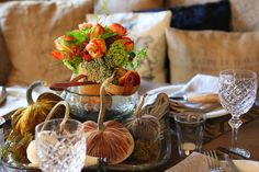 a fall tablescape by Romancing the Home