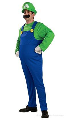 Deluxe Super Mario Bros. Luigi Kostume til Voksne