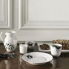 "Royal Copenhagen Black Mega Riflet  Termokrus for ""a nice cup of tea"""