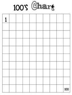 blank hundreds chart printable | Fast Finisher Folder: I haven't quite made these, but I'm going to for ...