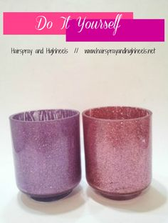 diy glitter makeup brush holder tutorial super easy and