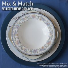 We are firm believers that even a small change in your dinnerware can make a big impact on the table! Click through to shop items for mixing and matching into your place settings. Selected items are 30% off until 8/10/15 at 11:59 pm PST. http://bit.ly/1IrS0O0 #noritake #tablescape #mix and match #sale