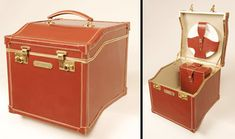 Series of unique suitcases and trunks designed by Sarah Jane Williams. Limited edition baggage was crafted out of leather and metal. Leather Suitcase, Vintage Suitcases, Train Case, Baggage, Luggage Bags, Trunks, Creative, Amazing, Design