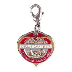Delta Sigma Theta - Centennial Charm - Circle Goldtone on Sterling Silver with Enamel #DST100  #DST102