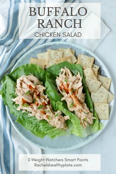 Buffalo Ranch Chicken Salad - 0 Weight Watchers Smart Points | Rachelshealthypla...,  #Buffalo #Chicken #chickensaladrecipe #Points #Rachelshealthypla #Ranch #Salad #Smart #Watchers #Weight Green Veggies, Fresh Vegetables, Fruits And Veggies, Buffalo Ranch Chicken, Fruit Plus, Weight Watchers Smart Points, Chicken Salad Recipes, Chicken Salads, Snacks Für Party