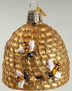 glass beehive ornament - Google Search