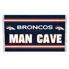 Flag Denver Broncos Man Cave Banner