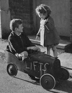 a boys dream, the car, the girl, the ride...