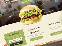 Burger #web #webdesign #website #design #inspiration