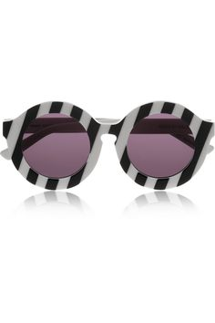 085b04975a House of Holland - Peggy striped round-frame acetate sunglasses