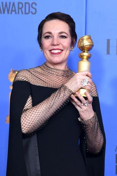 In a night that distinguished itself with some unusually charming acceptance speeches from the women, Olivia's befuddled awe shtick may have been Golden Globe Award, Golden Globes, English Actresses, Actors & Actresses, Jodi Whittaker, Olivia Coleman, Broadchurch, My People, Red Carpet Fashion