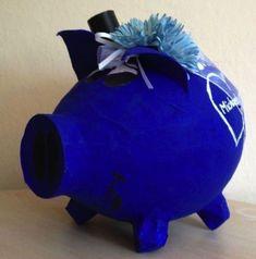 Hochzeitsschwein Sparschwein XXL blau maritim Strandhochzeit Kartenbox Geschenk