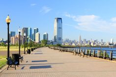 New Jersey City, where you can see the beautiful skyline of New York City. Jersey City, New Jersey, States In Usa, Best Places To Live, Best Cities, Westminster, Stock Pictures, Small Towns, San Francisco Skyline