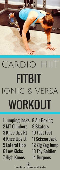 This workout is the ultimate cardio HIIT workout for the Fitbit Ionic and Versa Interval Timer. Don't have the Ionic or Versa?   Posted By: NewHowToLoseBellyFat.com