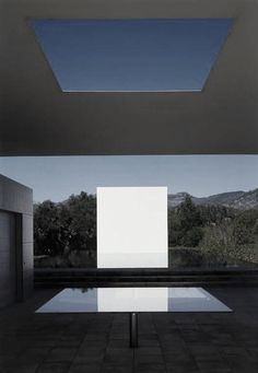 Jim Jennings + James Turrell & Tom Leader. The Pavilion, Pool House and Pool. Skyscape.