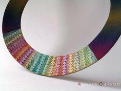 """Polymer Clay Neckring """" Rainbow """" Close up by Angela Garrod aka Claynine - Flickr"""