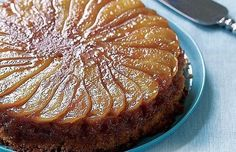 Caramelized Pear Upside-Down Cake Recipe (Fine Cooking) This cake is delicious warm or at room temperature. Cupcakes, Cupcake Cakes, Cake Cookies, No Bake Desserts, Just Desserts, Baking Desserts, Desserts With Pears, Sweet Recipes, Cake Recipes