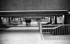 Montréal Metro: Guy Station, Montréal, Québec  Photo by Richard Guimond ©1973 19731208 013(3)f  Nikon F 35mm f3.5 Tri-X 800ASA Acufine