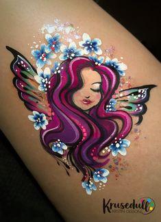 Angel face paint